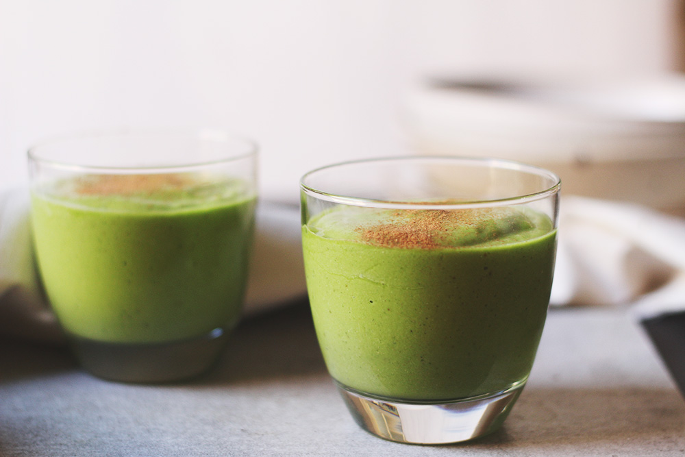 green tea avocado lime smoothie
