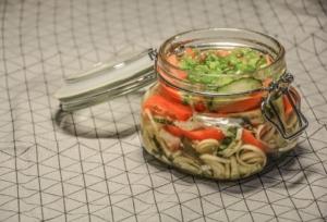 fermented vegetables in jar