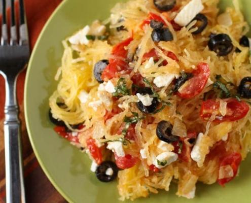 Mediterranean Spaghetti Squash with iherbs