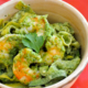 Creamy Pesto Shrimp in Bowl